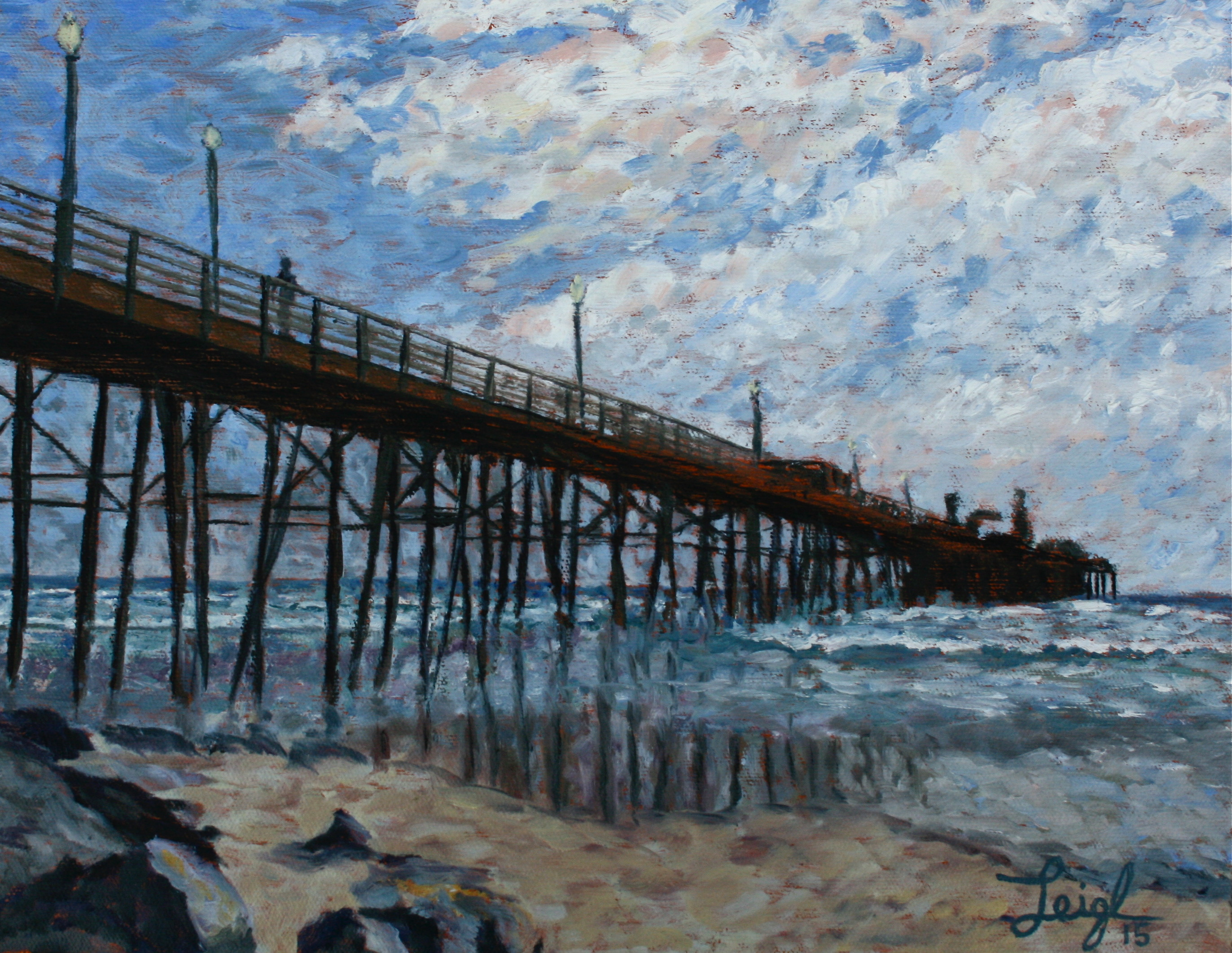 Oceanside Pier 2015  ~   Mark Jacobson, Santa Rosa, CA  2015 • 14 x 11