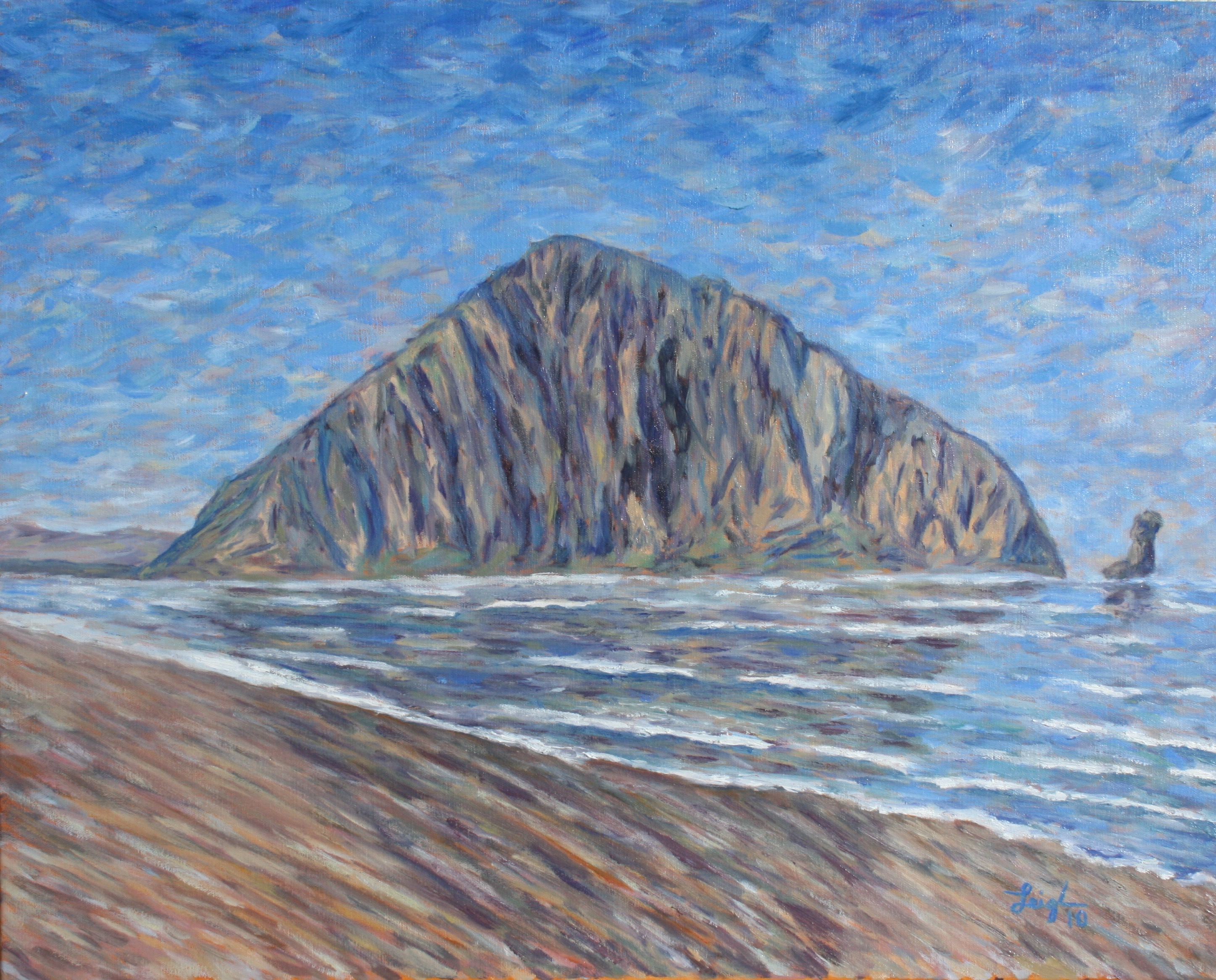 Portrait of Morro Rock  ~   Michael & Jordonna Dores, Morro Bay, CA 2010  •  30 x 24
