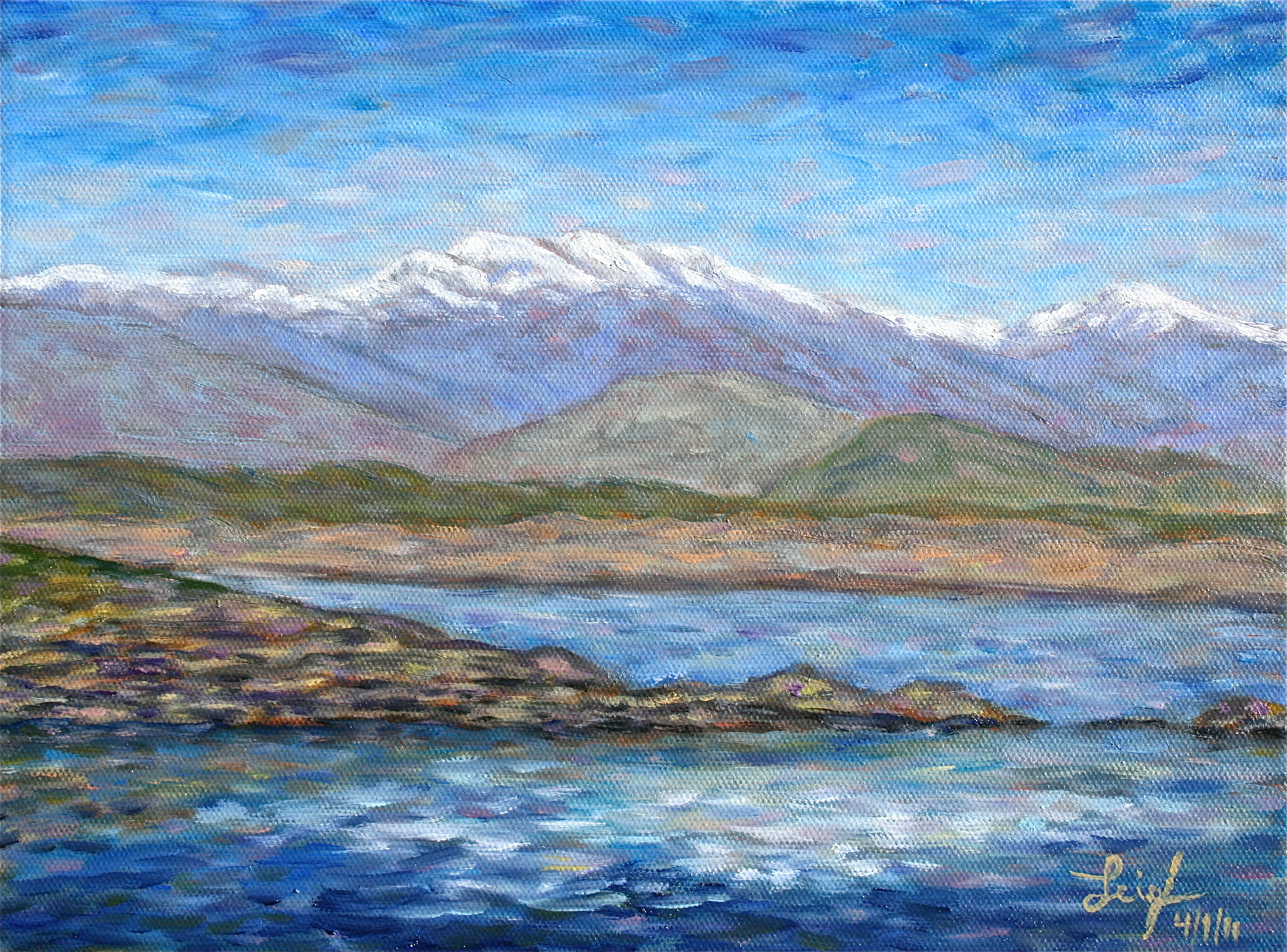 Diamond Valley Lake  ~   Art Jacobson, Murietta, CA 2011  •  14 x 11
