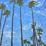 Santa Monica Palms  ~   Ed Carman, Santa Monica, CA 2011 • 18 X 24