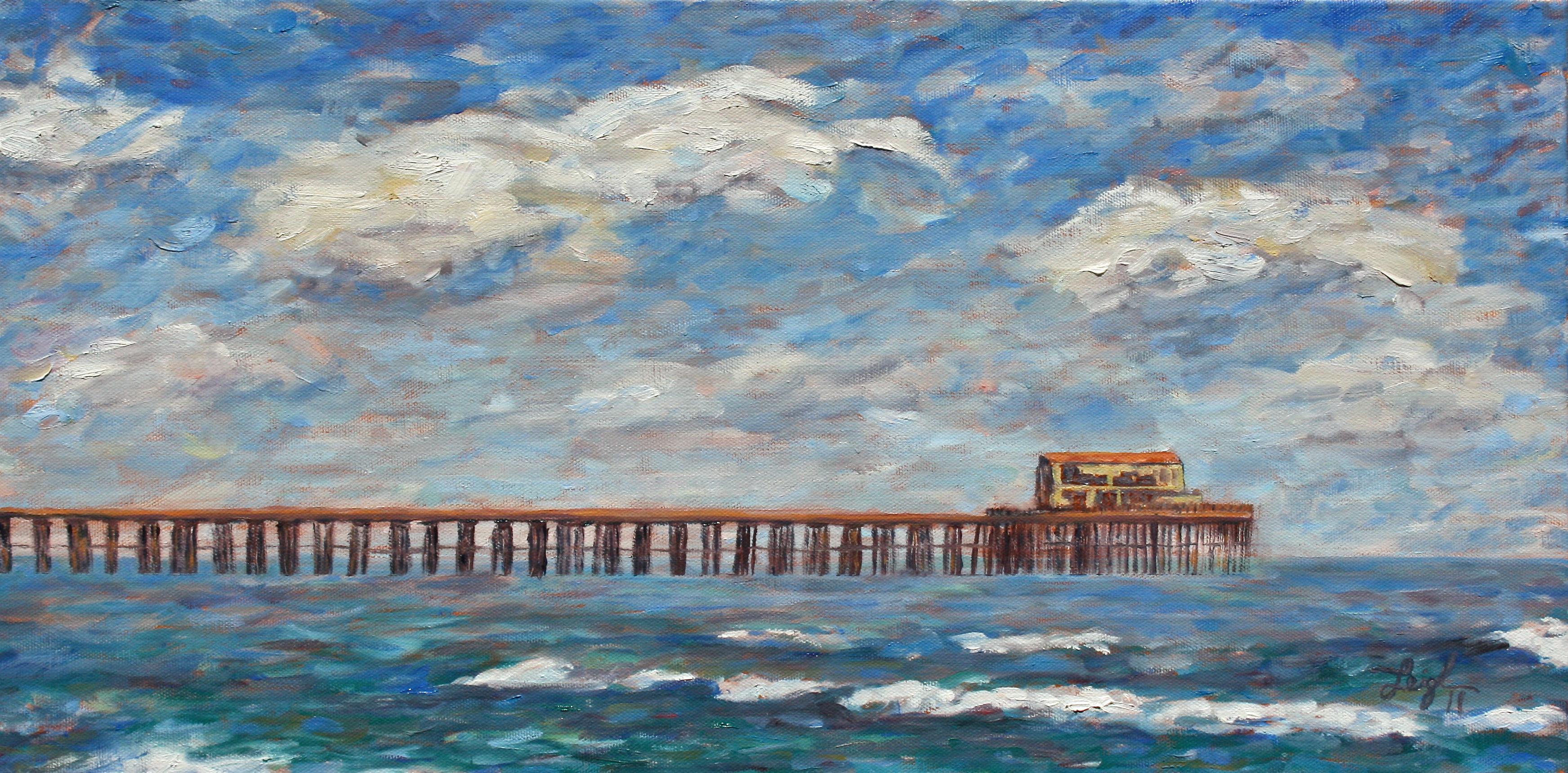 Oceanside Pier  ~   Marilyn Vanderweit, Carlsbad, CA 2011  •  24 x 12