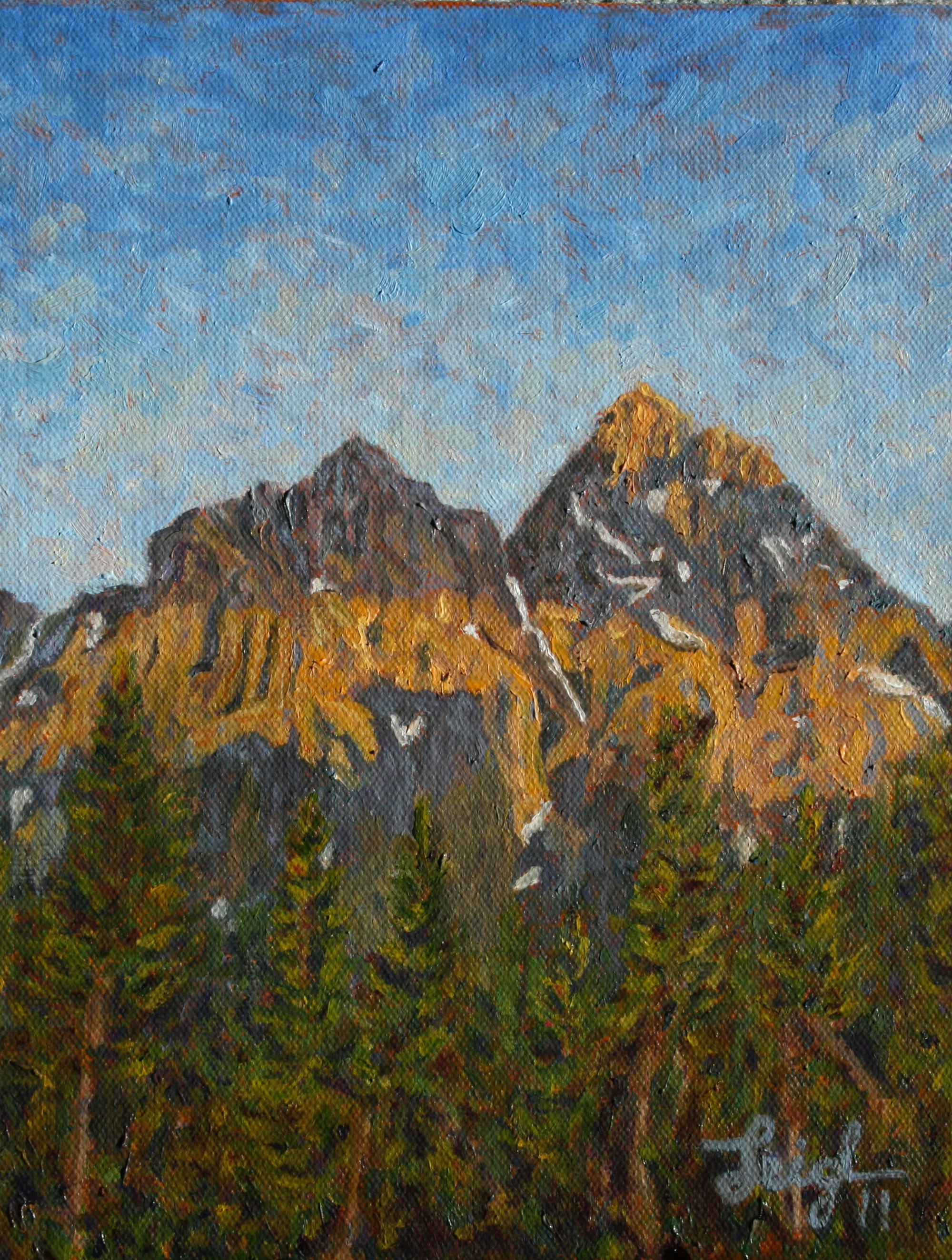 Grand Teton Peak, WY  ~   Lynn Campbell, Newberry, MI 2011 • 8 x 10