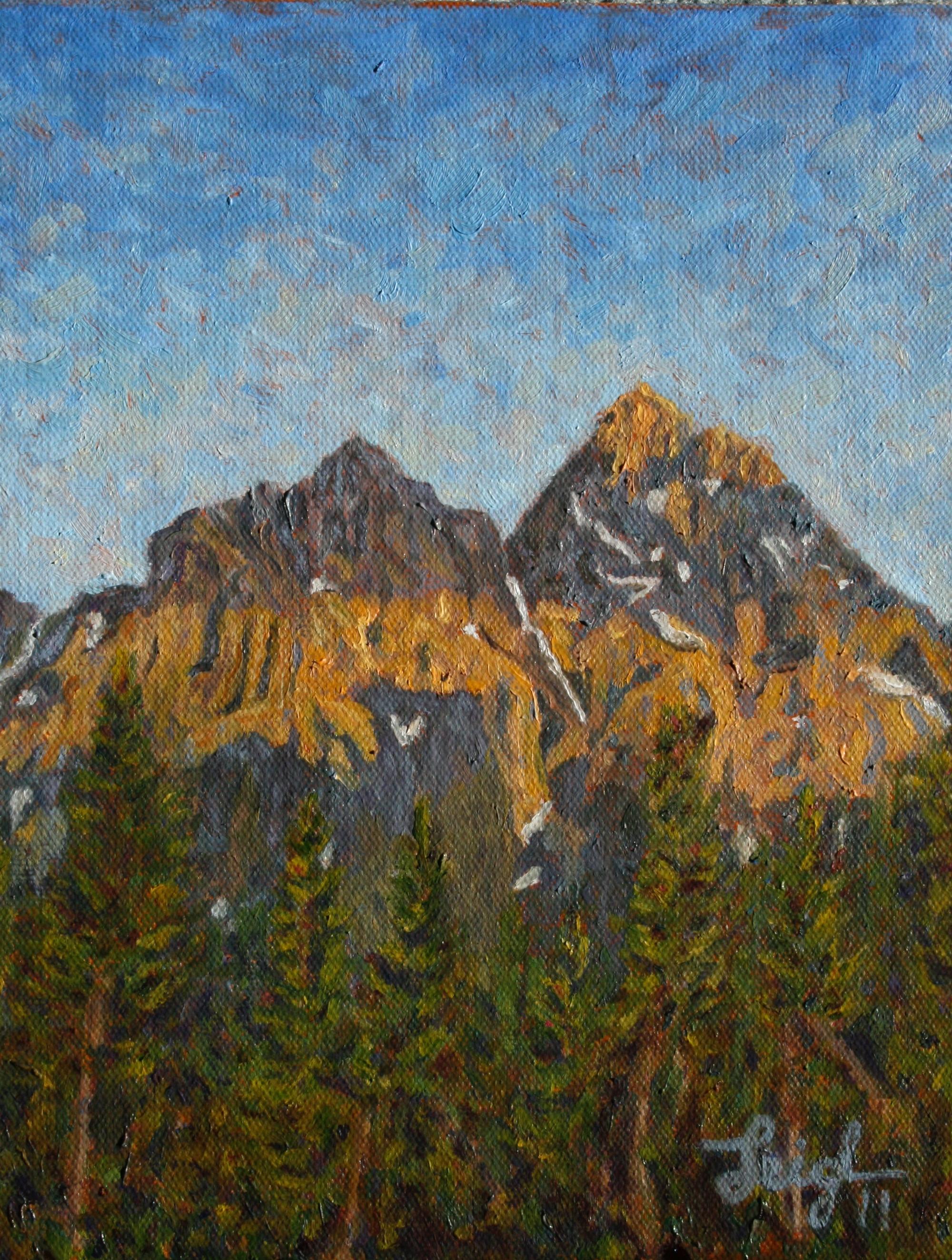 Grand Teton Peak, WY  ~   Lynn Campbell, Newberry, MI 2011 • 8 x 10