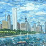 Chicago Skyline  ~   2004  •  20 x 16
