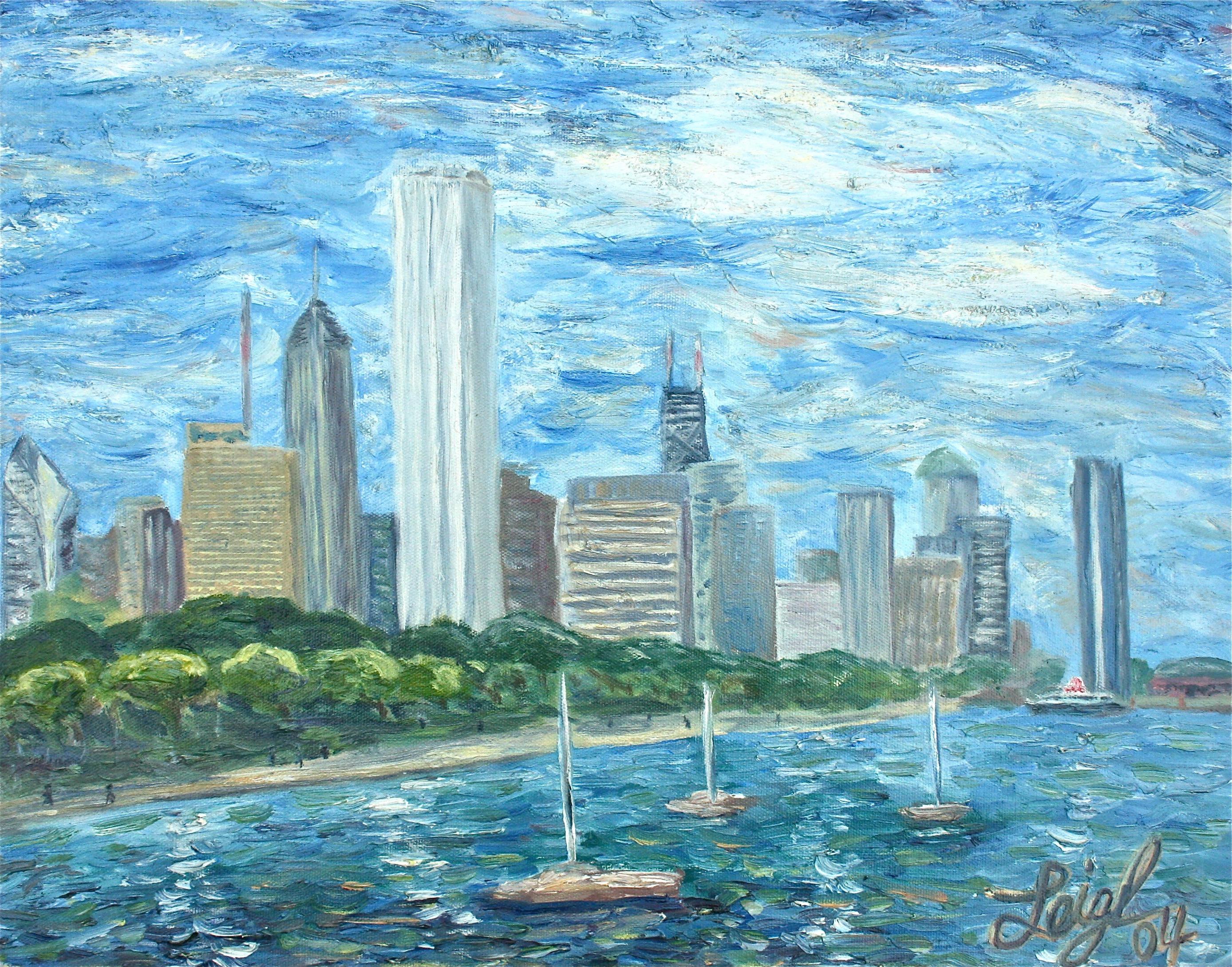 Chicago Skyline  ~   2004  •  20 x 16