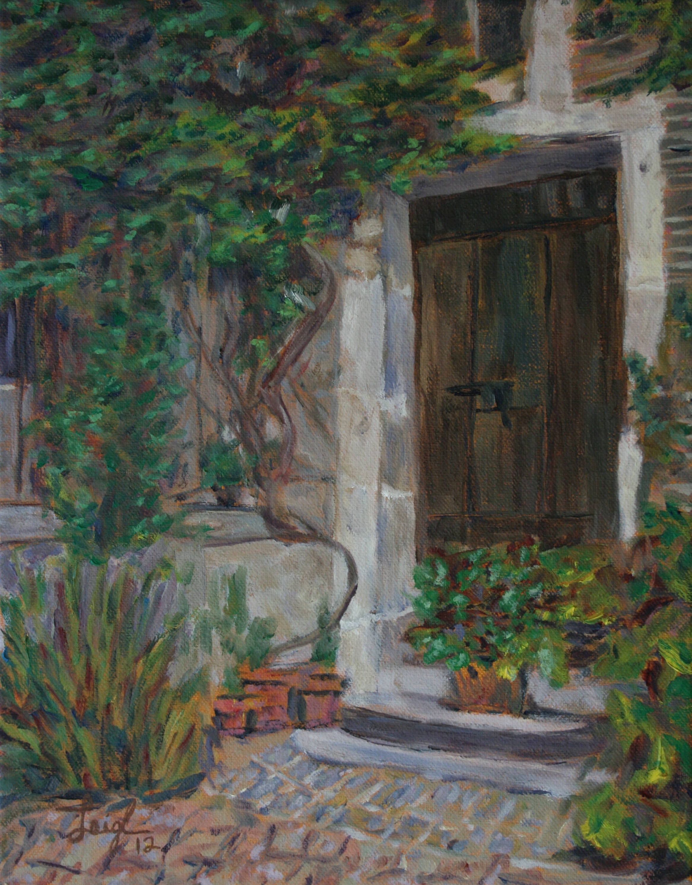Garden Door  ~   Beth McGilley, Wichita, KS  2012 • 11 x 14