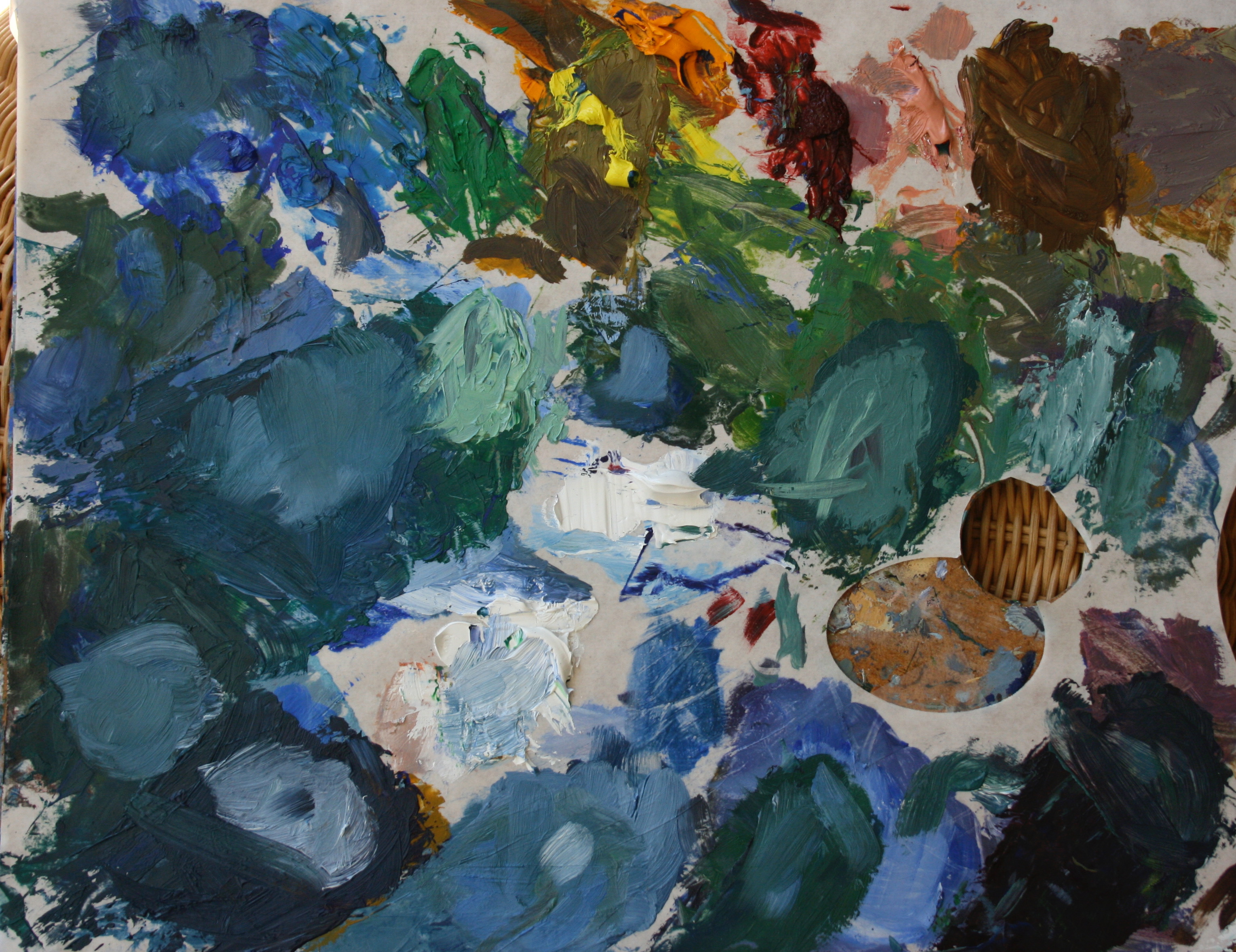 """Palette for """"Water Lillies…"""""""