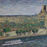 Louvre and Seine from the d'Orsay  ~   Sue & Bill Johnson, San Diego, CA  2012 • 36 x 18