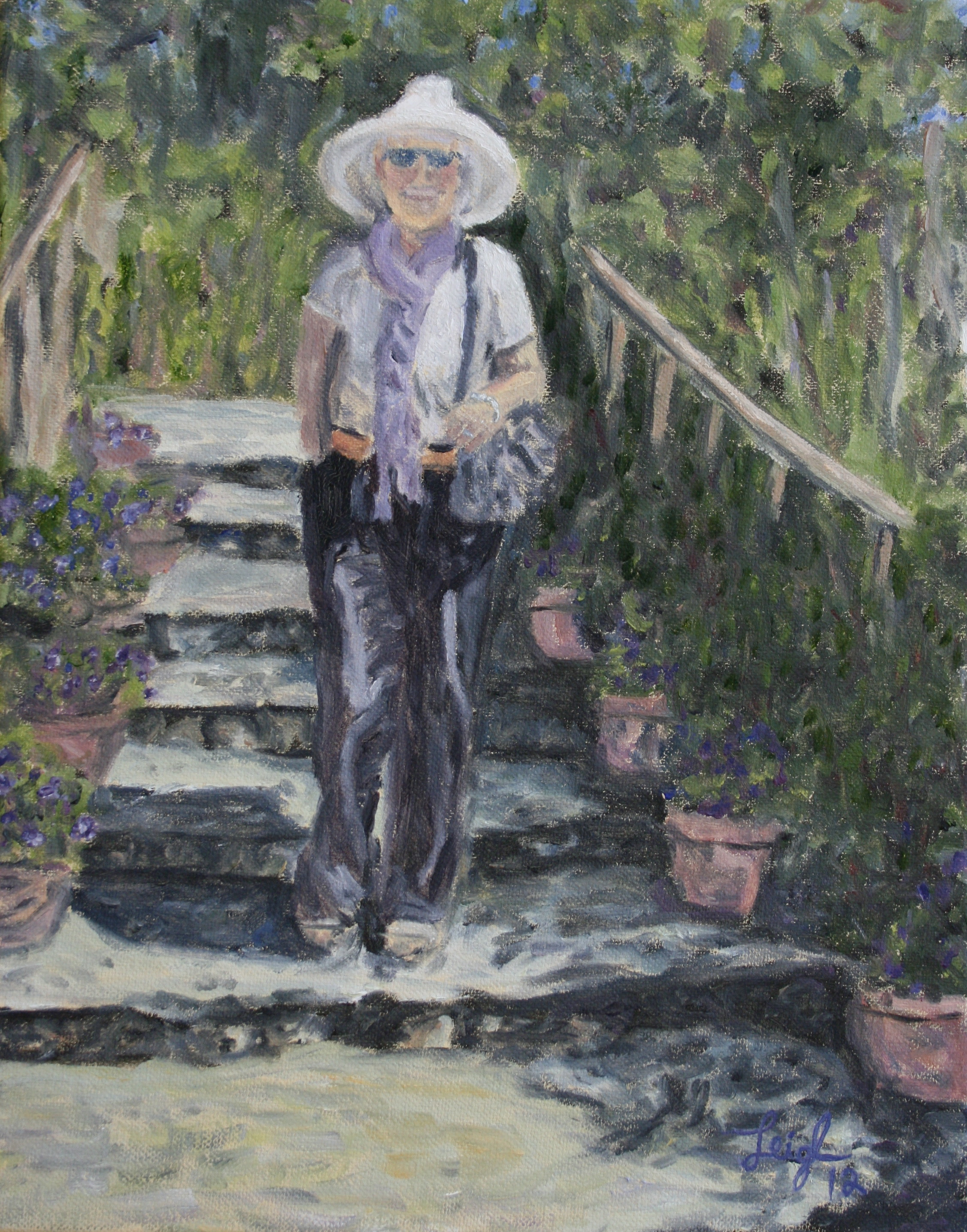 Lindsey in Giverny  ~   2012  •  11 x 14