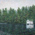 Boathouse on Lake Kezar, ME  ~   Anne Hall, Philadelphia, PA 2012 • 30 x 24