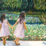 Sisters at Huntington Gardens  ~   Jeannie Rust and Jay Lester, Tucson, AZ 2013  •  30 x 24