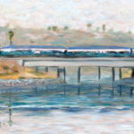 Coaster over Agua Hedionda  ~   Howard Anton Duncan, Oceanside, CA 2013 • 30 x 10