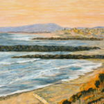 Golden Sky over South Carlsbad State Beach  ~   Melissa Rubbo, Escondido, CA 2013 • 30 x 24