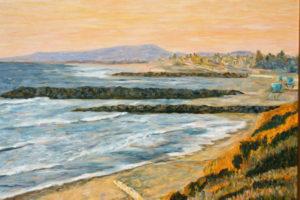 Golden Sky over South Carlsbad State Beach  ~   Melissa Rubbo, Escondido, CA 2013 • 30 x 24