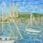Coming into Morro Bay (study)  ~   2005 • 14 x 11