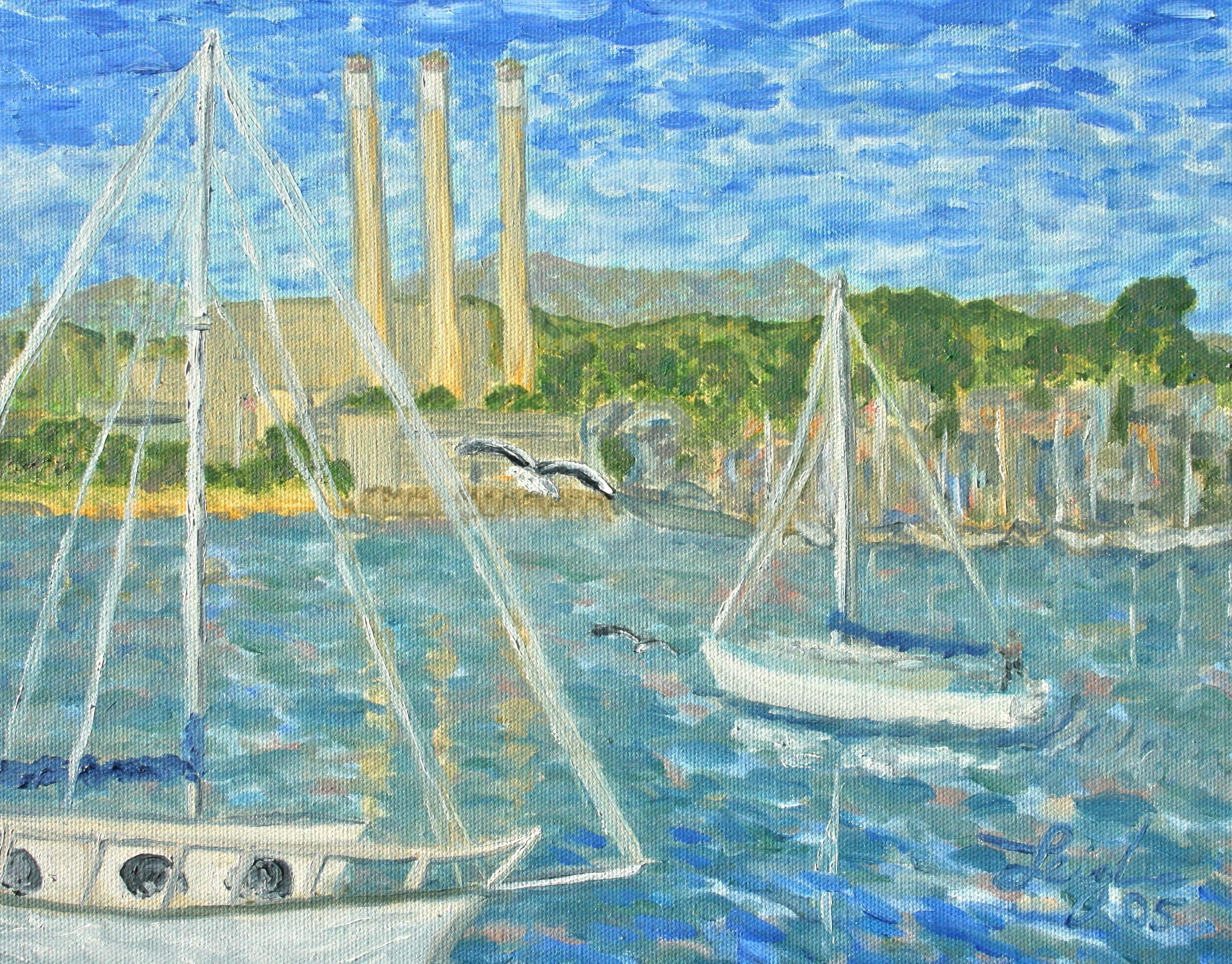Coming into Morro Bay (study)  ~   2005 • 14 x 11