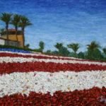 Carlsbad Flower Fields #3 (Old Glory)  ~   Mark Simmers, Oceanside, CA  2013  •  20 x 16