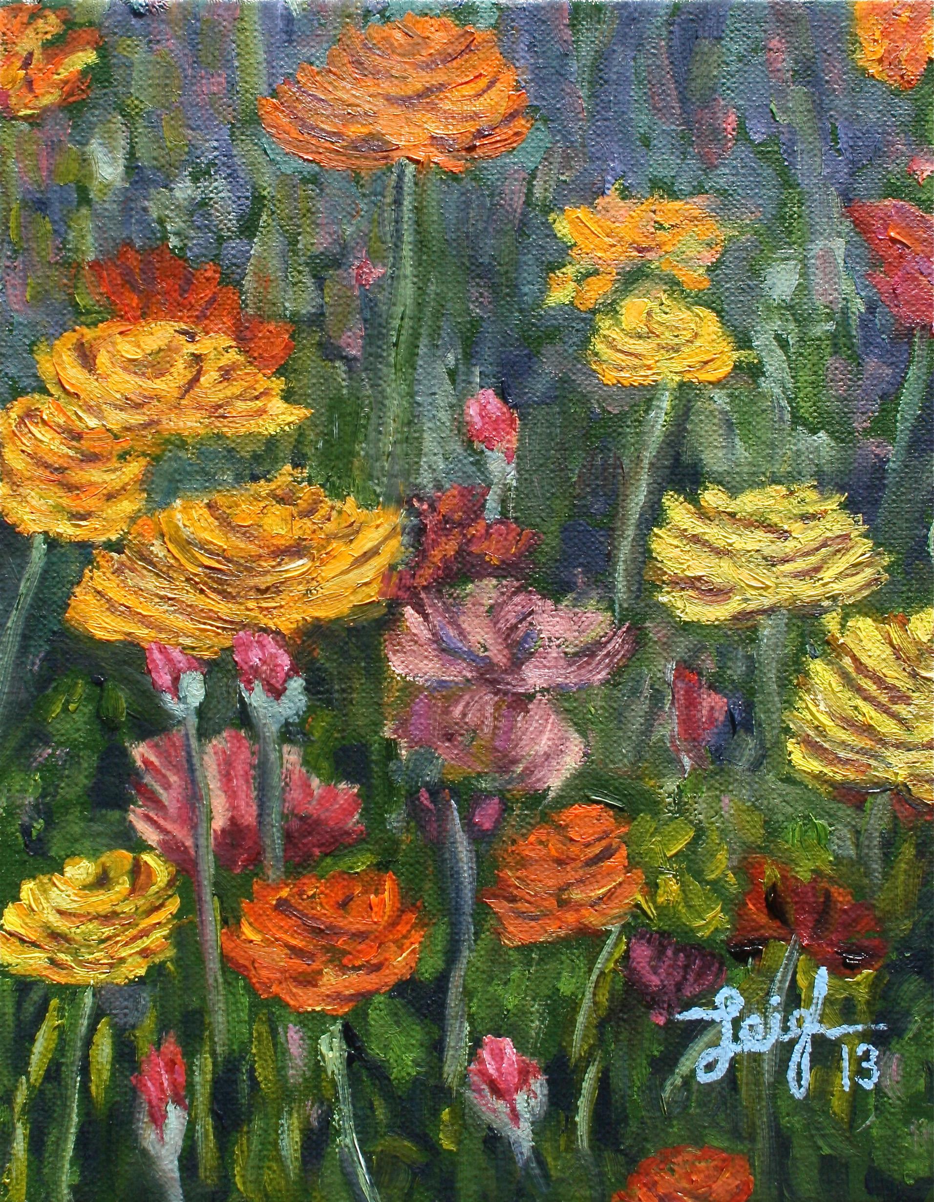 Carlsbad Flower Fields #5  ~   Catherine Cook-Cottone, Buffalo, NY 2013 • 8 x 10