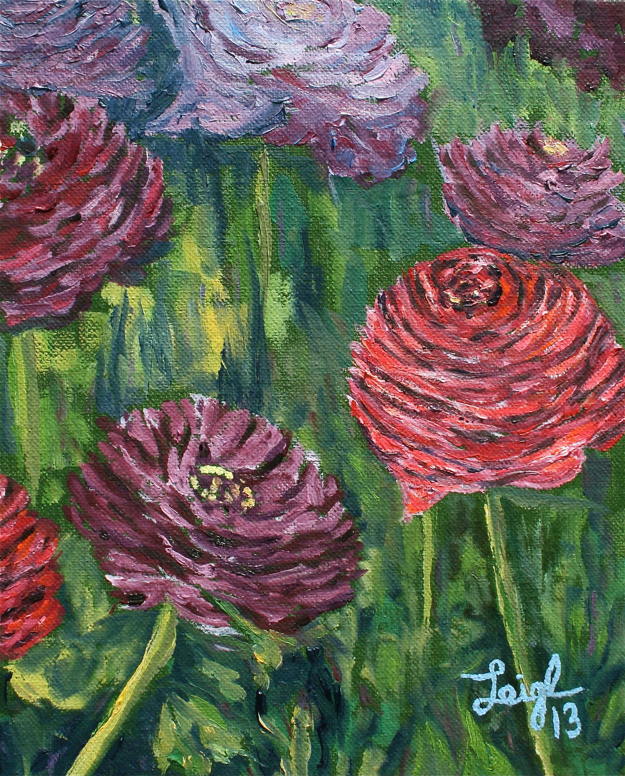 Carlsbad Flower Fields #4  ~   Barbara Waldeck, Los Altos Hills, CA 2013 • 8 x 10