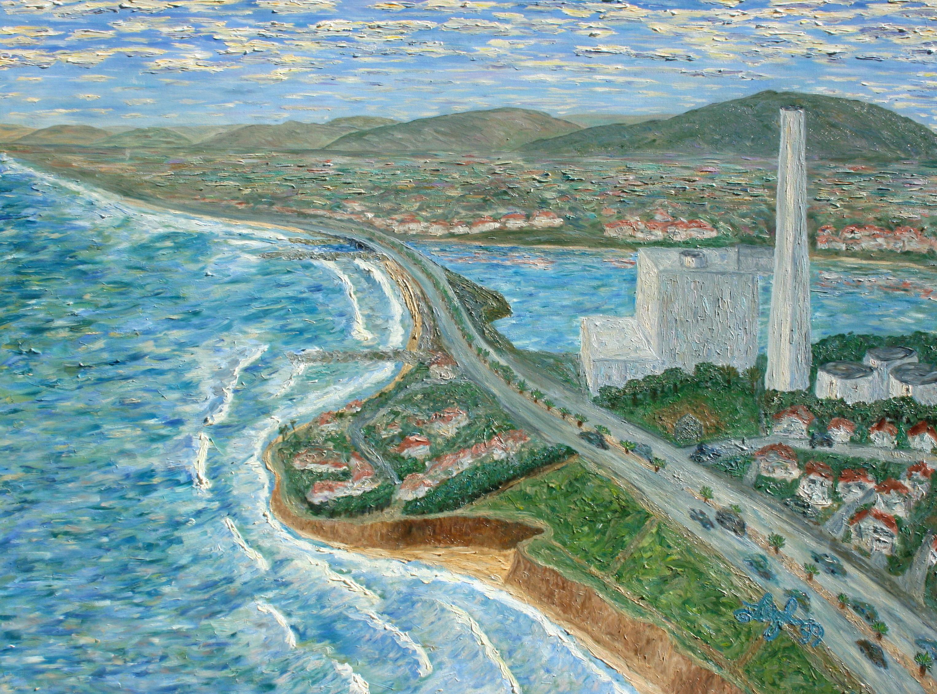 Encinas Power Plant – aerial view   ~   1999 • 48 x 36