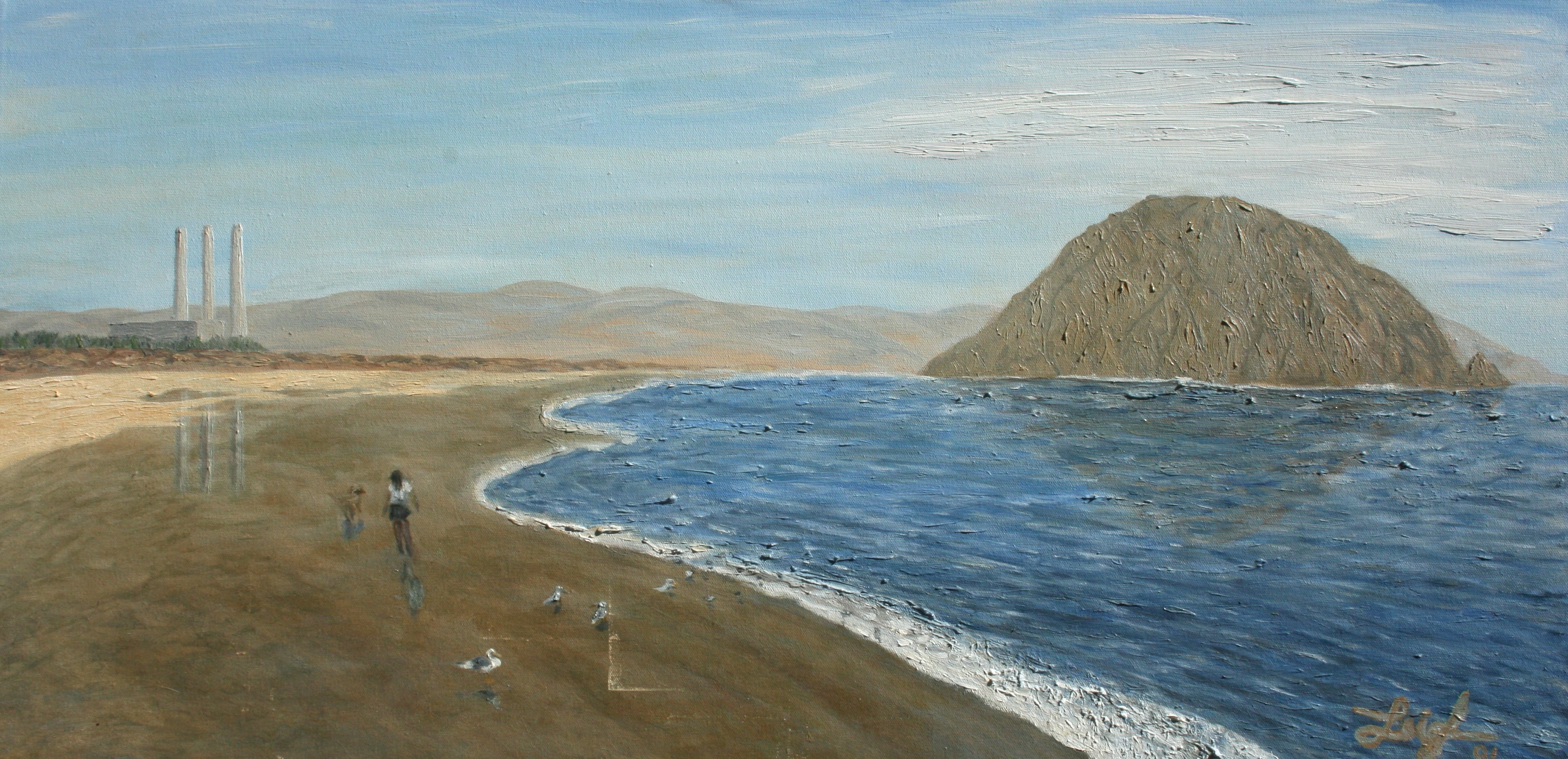 Brown Beach in Morro Bay  ~   2001  •  36 x 18