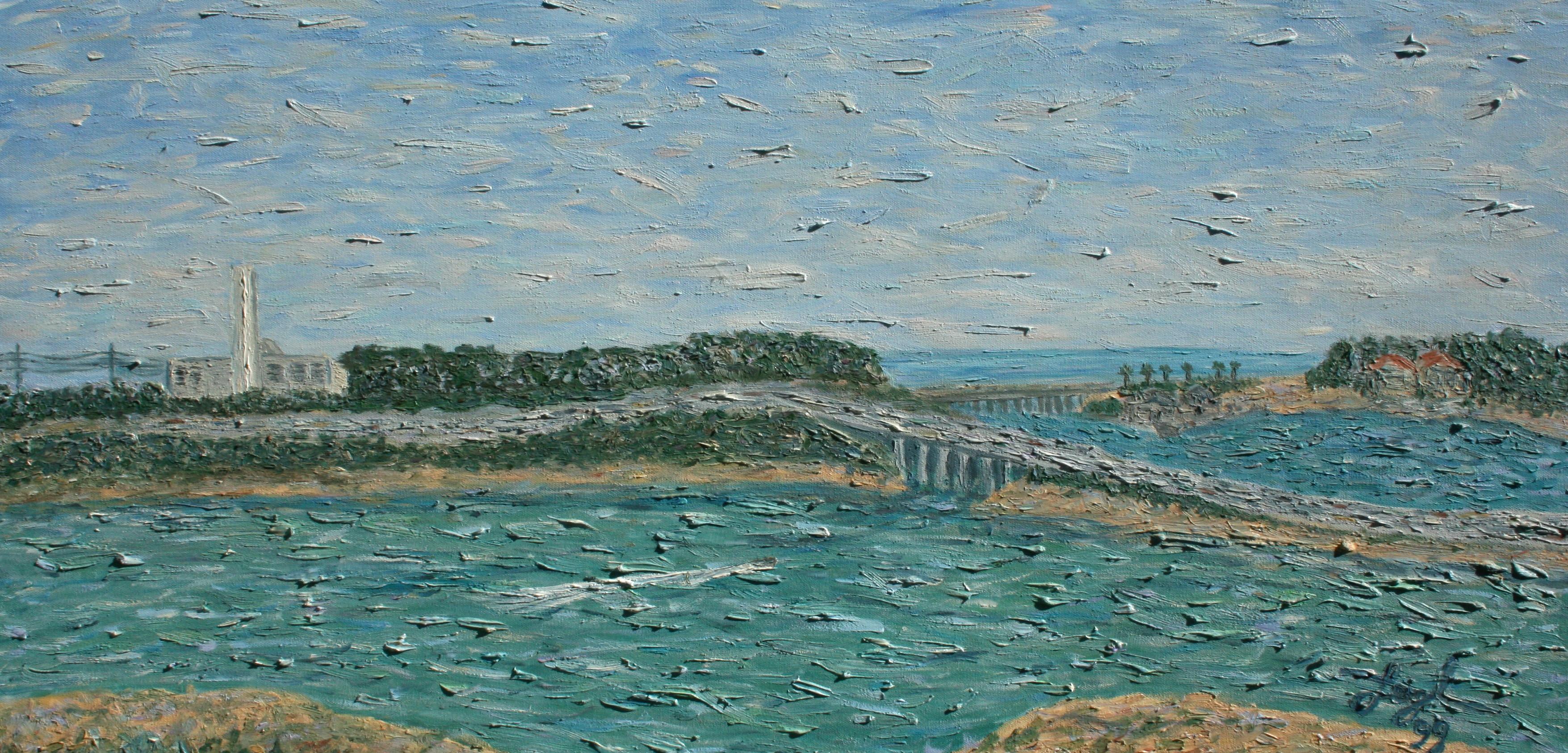 Across Agua Hedionda  ~   1999  •  36 x 18