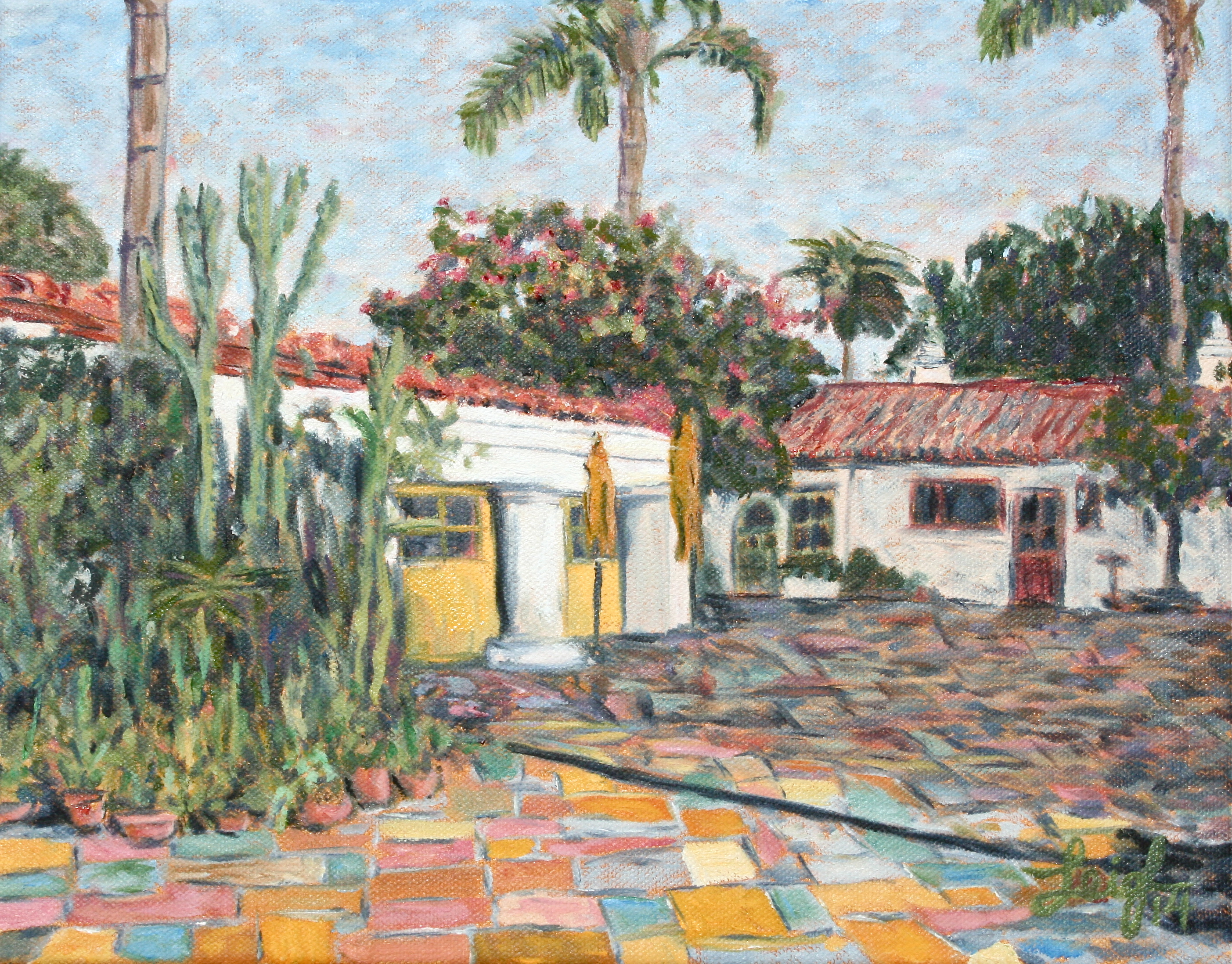 Spanish Village Art Center  ~   2014  •  14 x 11