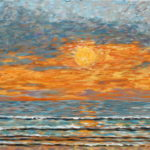 Sunset 2015 #1  ~    Leslie Anderson La Jolla, CA 2015 • 12 x 24
