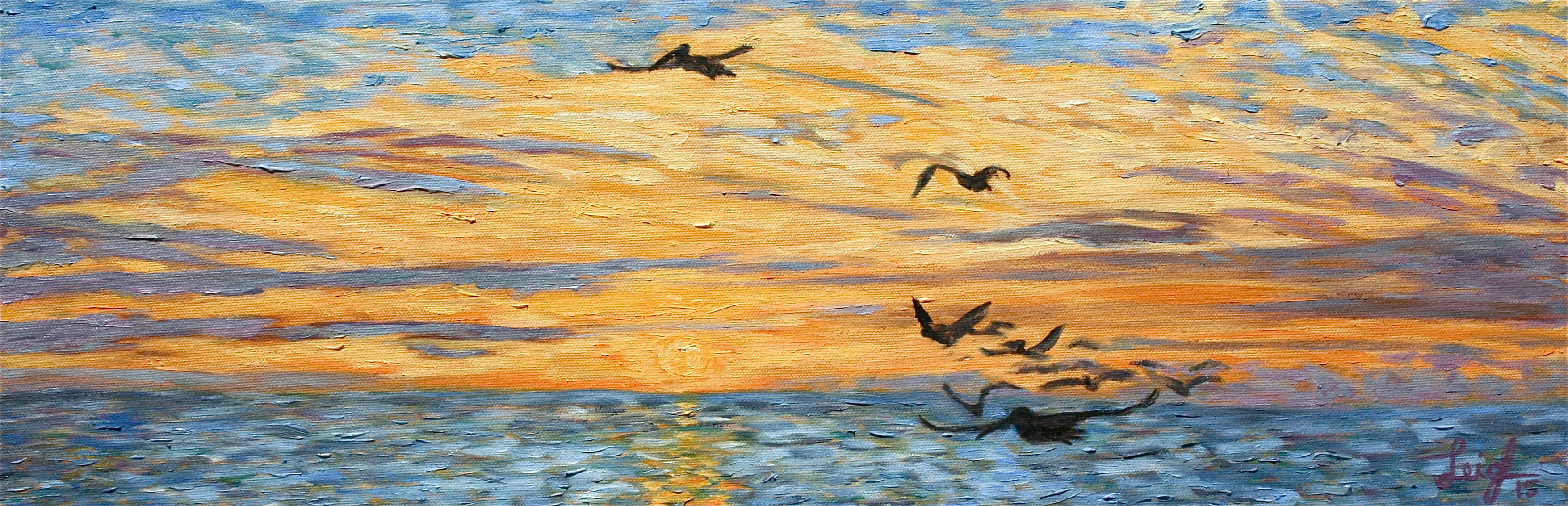 Sunset 2015 #7  ~   Chad Smith & Emily Gray, San Diego, CA  2015 • 24 x 8