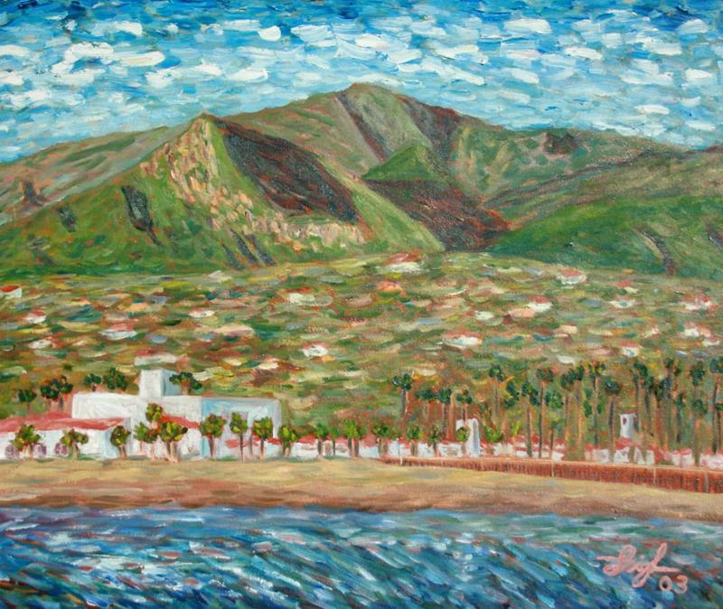 Santa Barbara #1  ~   Steve & Shelly Koski, Santa Barbara, CA 2003 • 24 x 18