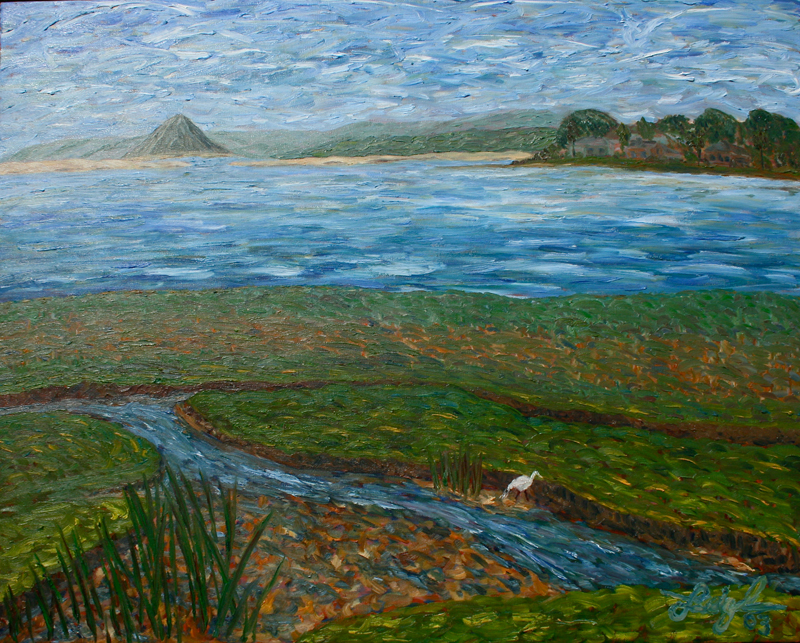 Morro Bay Landscape  ~   Francesca Droll & John Webster, Bigfort, MT  2005 • 30 x 24