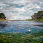 UCSB Lagoon #1  ~   Greer Jacobson, Santa Rosa, CA 2007  •  14 x 11