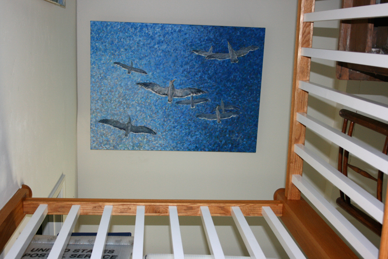 above our staircase