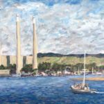 Coming into MB Harbor  ~   2012  •  14 x 11