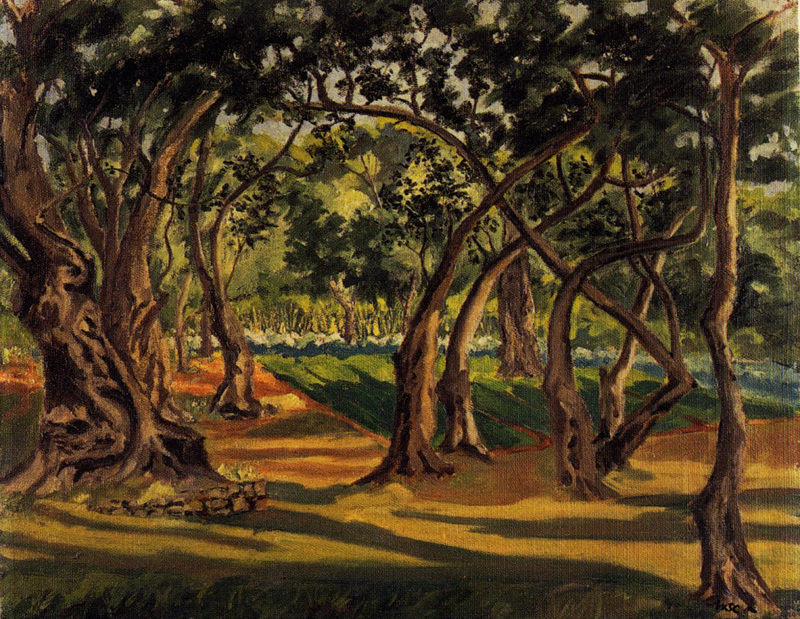 Olive Grove, La Dragoniére  by Winston Churchill 1947