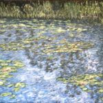 Giverny Water Lilies (2 of 2)  ~  2019  •  48 x 36