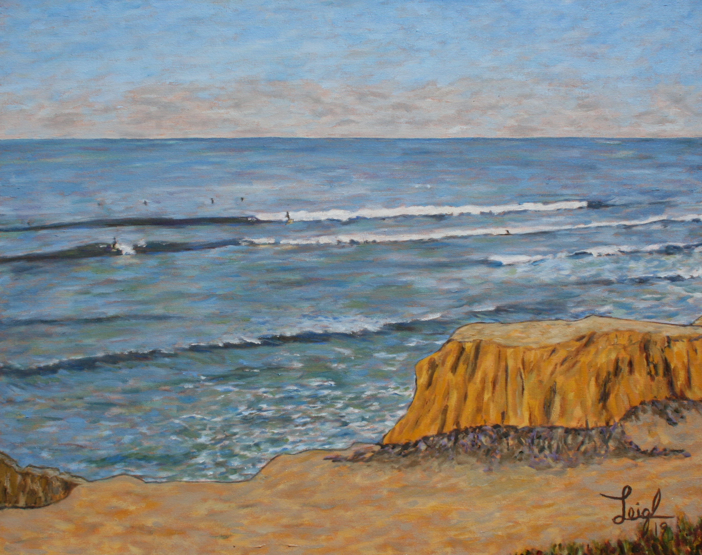Surfs Up at Terramar #2  ~  Rick Bishop, Denver, CO 2019  •  30 x 24