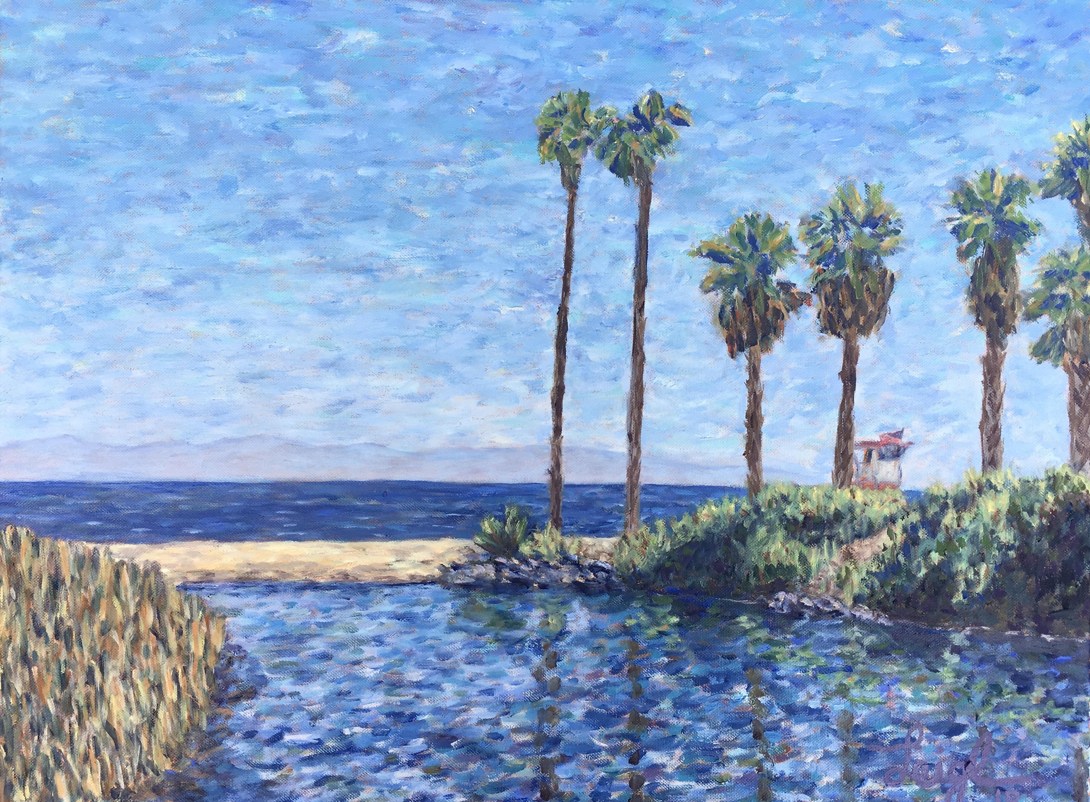 Hendry's Beach, Santa Barbara  ~   Larissa Rice, Temecula, CA 2019  •  24 x 18