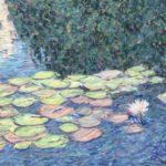 Water lilies in Balboa Park #3  ~  Anna Shreve, El Paso, TX 2019  •  24 x 18