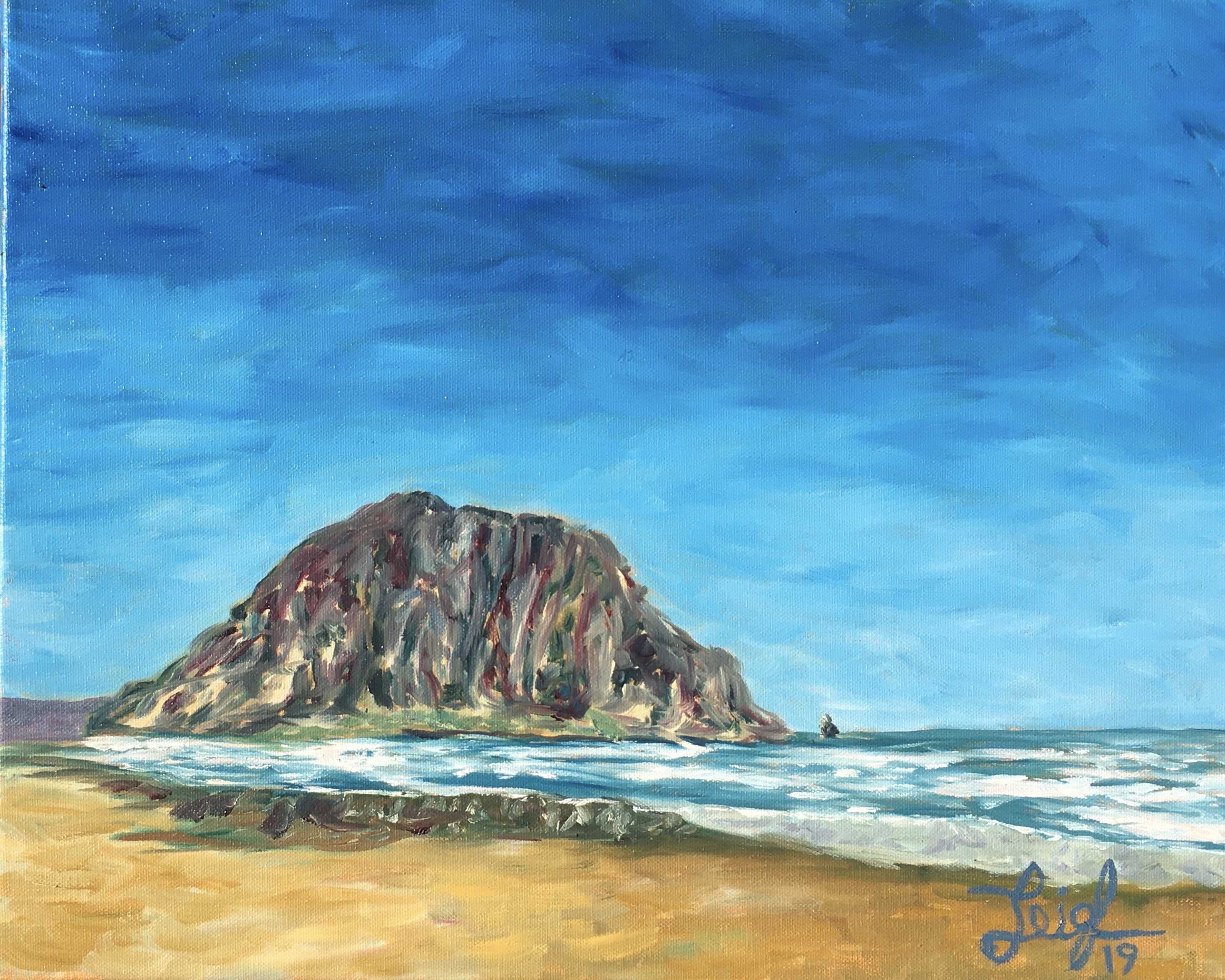 Morro Rock Series #1 (Étude) 2019  •  20 x 16