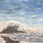 Morro Rock Series #5 (Fog Rolling In)  ~  Johanna McShane, Lafayette, CA 2019  •  20 x 16
