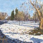 Snowy Central Park Denver  2019  •  18 x 14