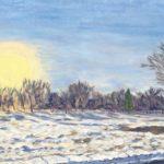 Central Park Denver (Snowy Sunset) 2019  •  30 x 15