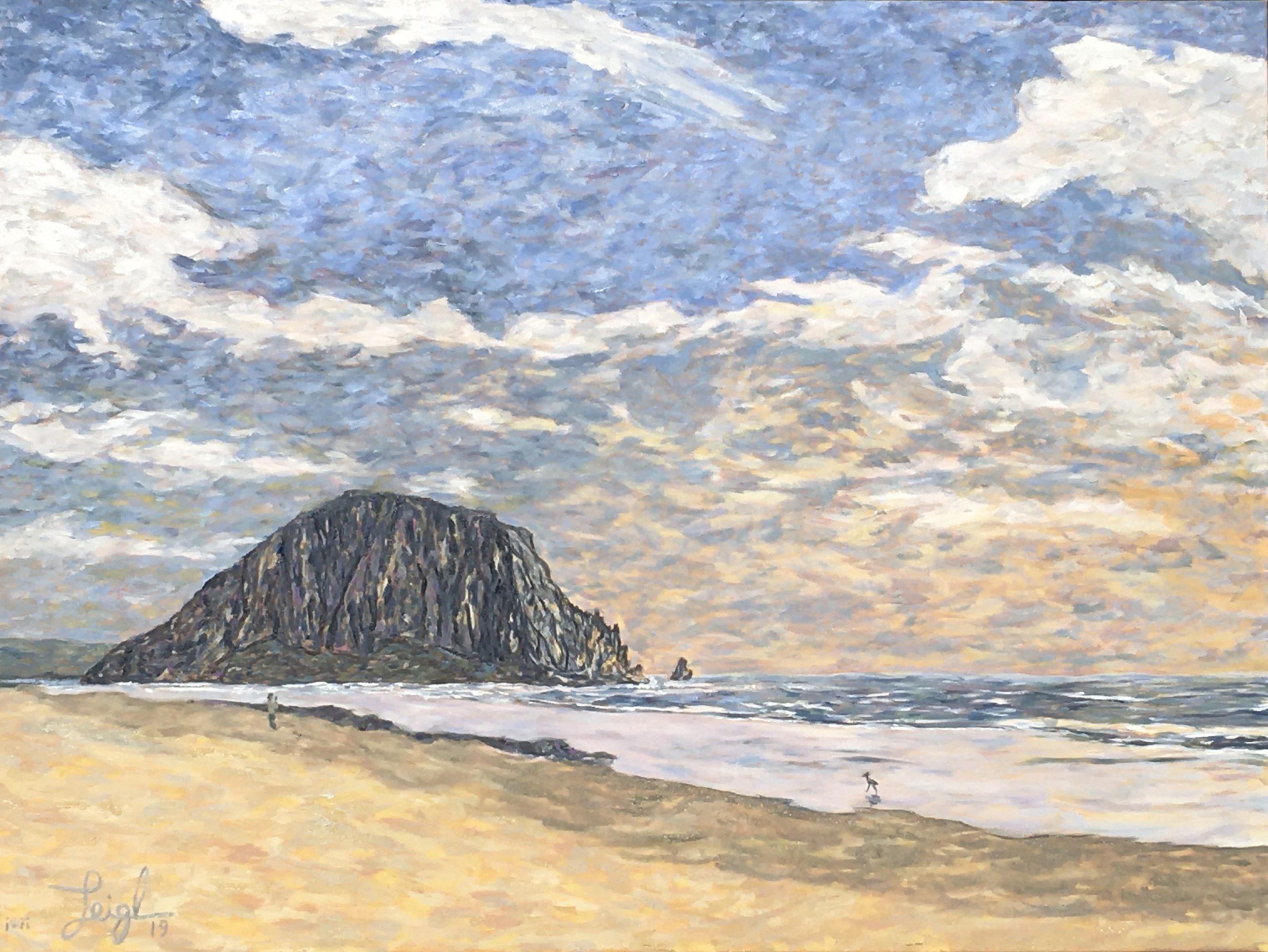 Morro Rock Series Diptych (left) 2019  •  48 x 36