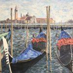 Gondolas & Giorgio Maggiore (V03)  2020  •  28 x 22
