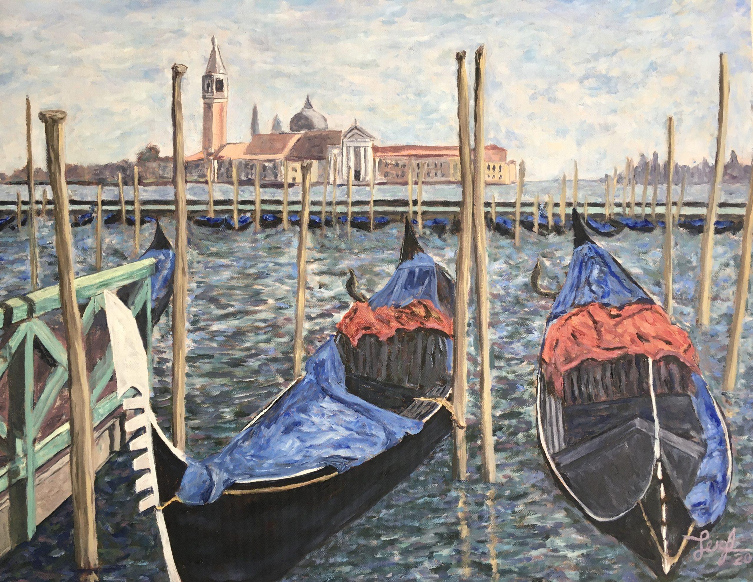 Gondolas & Giorgio Maggiore (#3)  2020  •  28 x 22