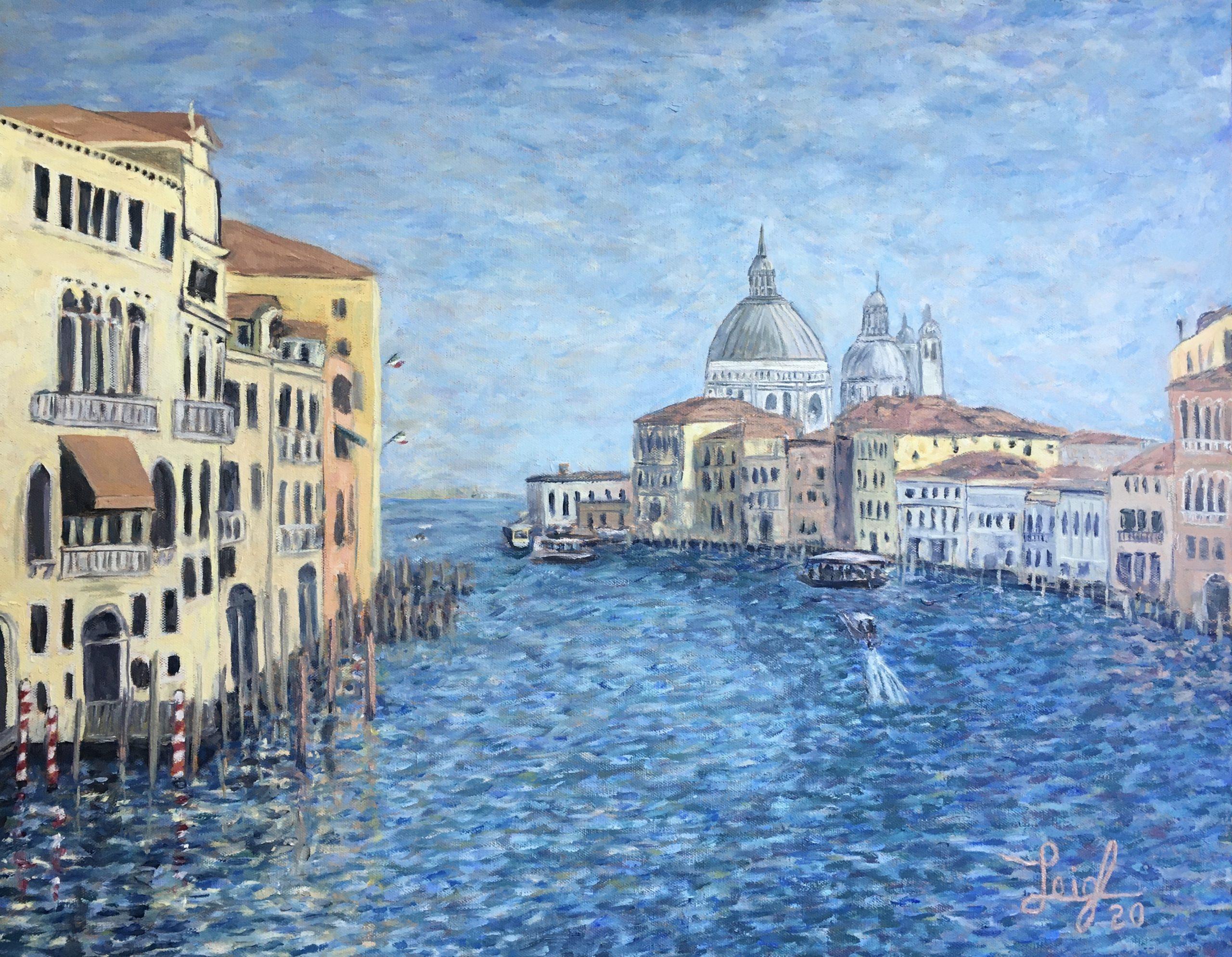 Grand Canal with Santa Maria della Salute (#6)  2020  •  28 x 22