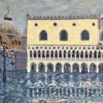 St. Mark's Basilica and Doge's Palace Flooded (#7)  2020  •  28 x 22
