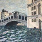 The Rialto Bridge Flooded (V08)  2020  •  28 x 22