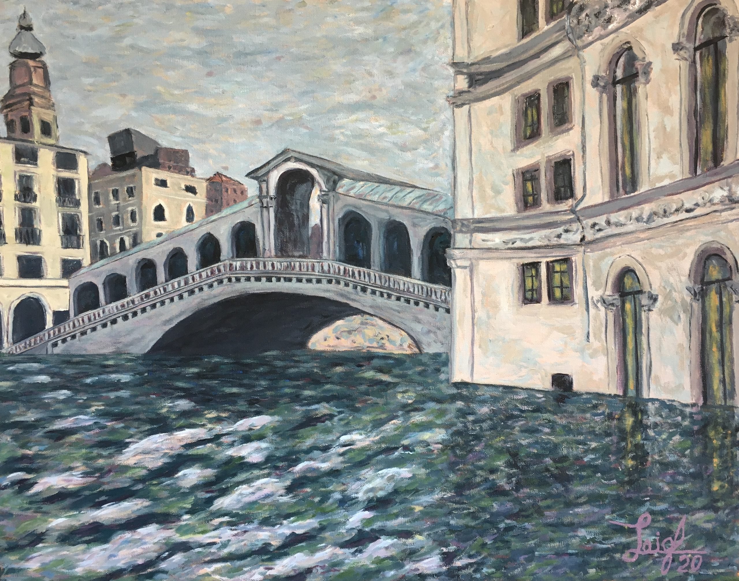 Rialto Bridge Flooded (#8)  2020  •  28 x 22